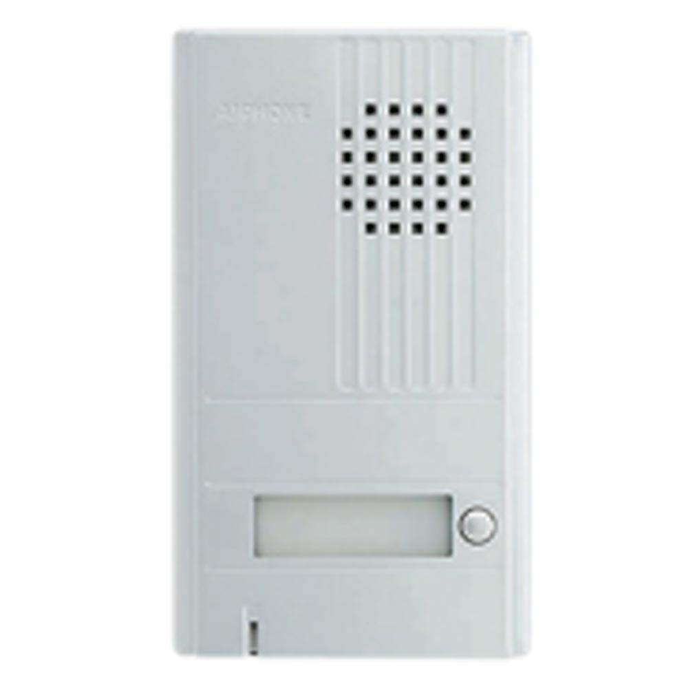 Aiphone - AIP110538 - DA1DS Platine saillie 1 BP avec façade aluminium