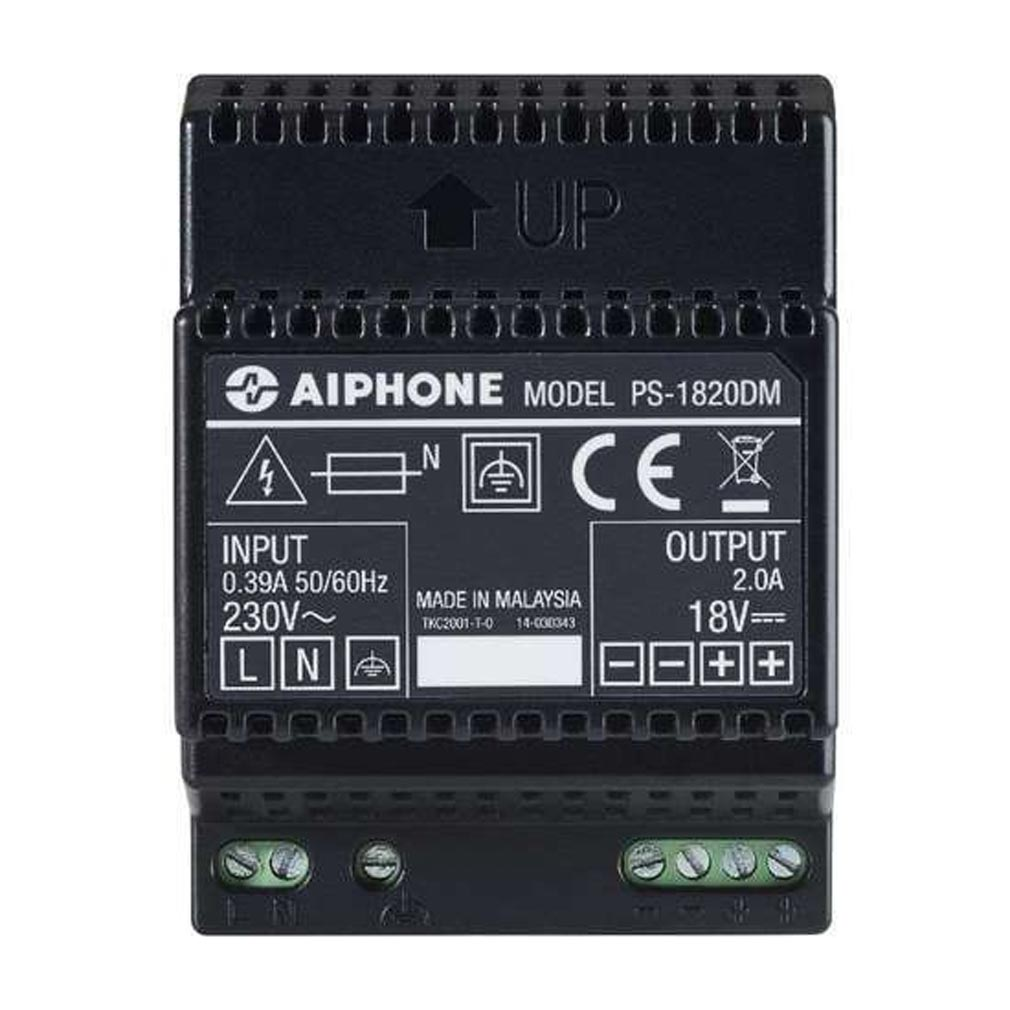 Aiphone - AIP110914 - AIPHONE PS1820DM - 110914 - Alimentation 230 Vac / 18 Vcc - 2 A