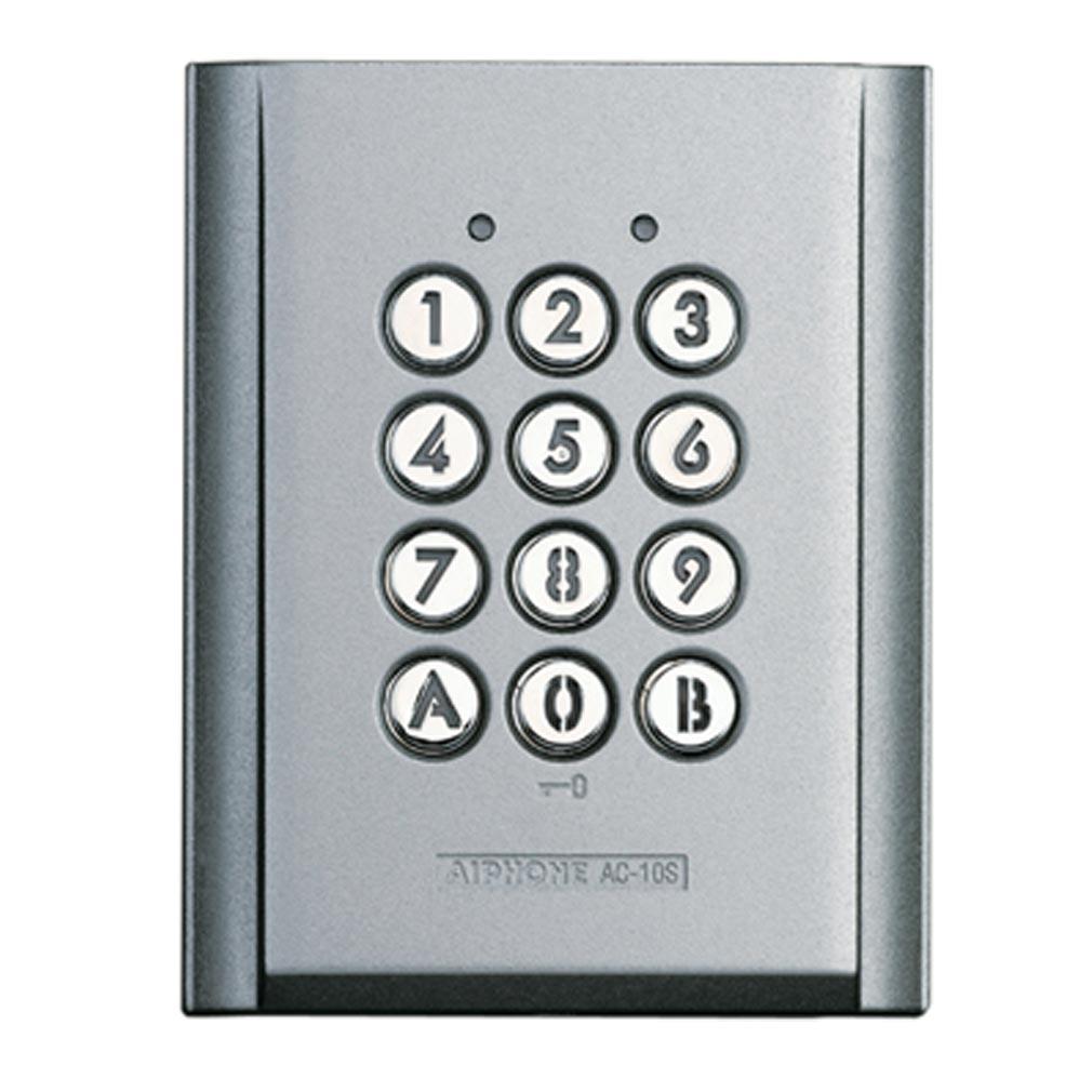 Aiphone - AIP120150 - AC10S Clavier saillie métal injecté, rétro éclairé, 100 codes & 2 relais
