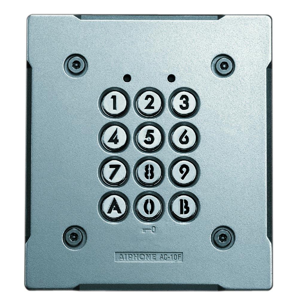 Aiphone - AIP120151 - AC10F Clavier encastré métal injecté, rétro éclairé, 100 codes & 2 relais