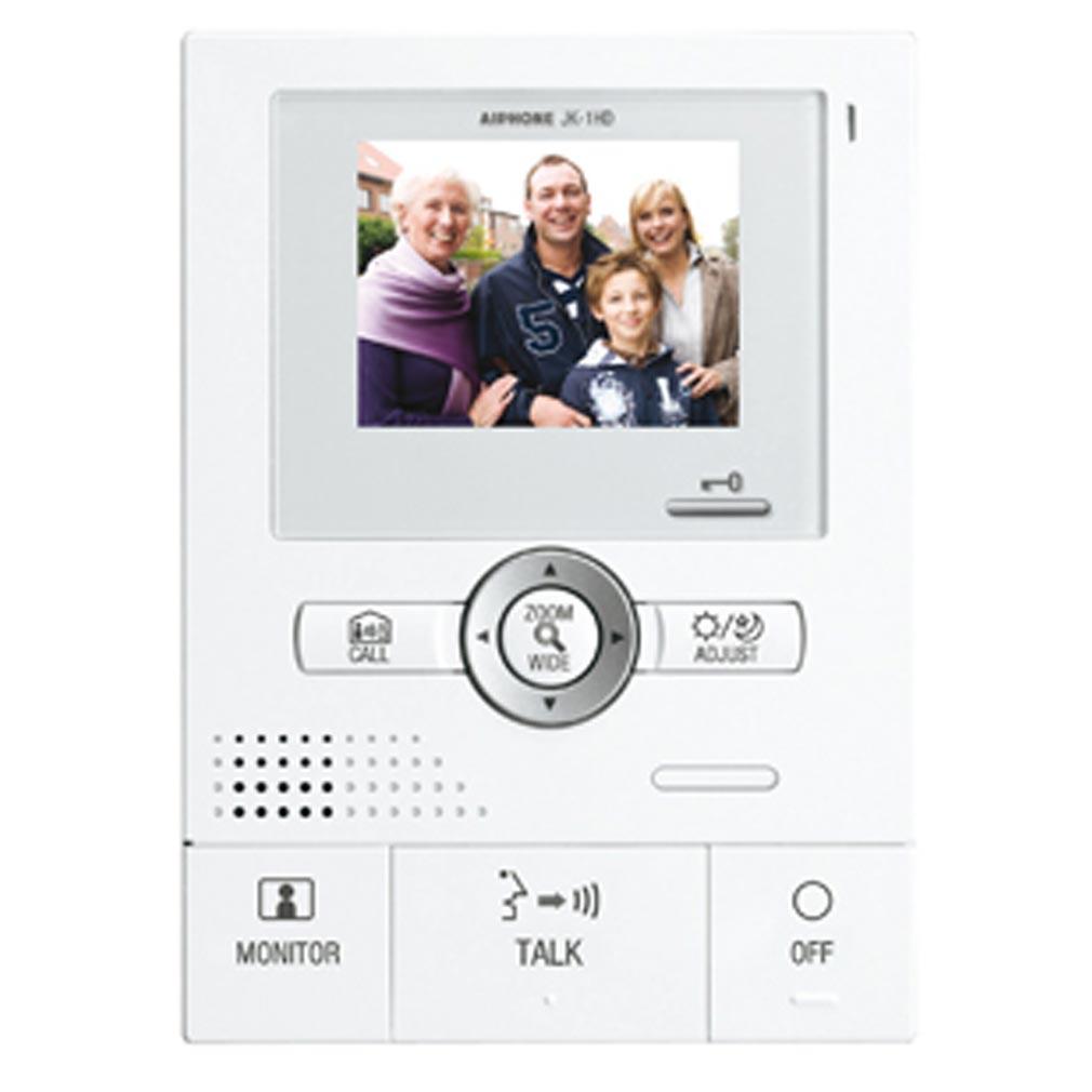 Aiphone - AIP130208 - JK1HD Moniteur supplémentaire couleur grand angle avec zoom, mains libres pour JK1MD, JK1MED & kits JK