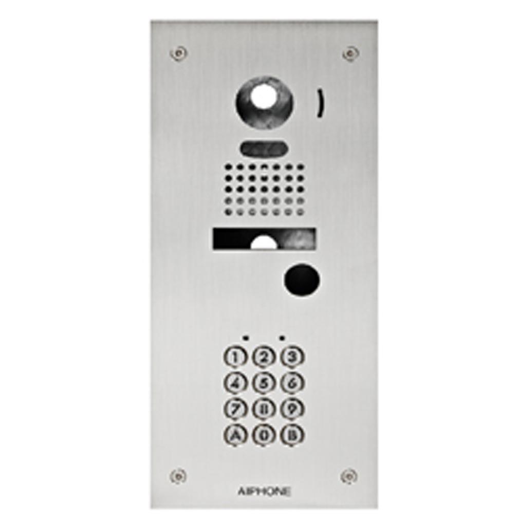 Aiphone - AIP130220 - KJKF Façade d'adaptation inox encastrée avec clavier 100 codes pour kits vidéo JK, JP et JO