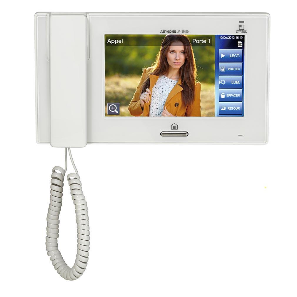 Aiphone - AIP130315 - JP4MED Moniteur maître mémoire avec boucle magnétique & écran tactile 7 pouces
