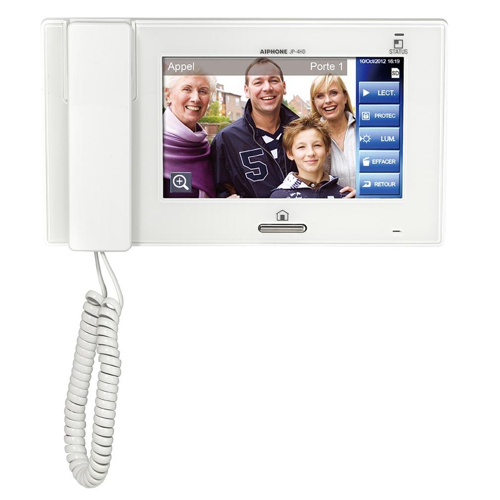 """Aiphone - AIP130316 - JP4HD Moniteur secondaire avec boucle magnétique & écran tactile 7"""" pour JP4MED"""