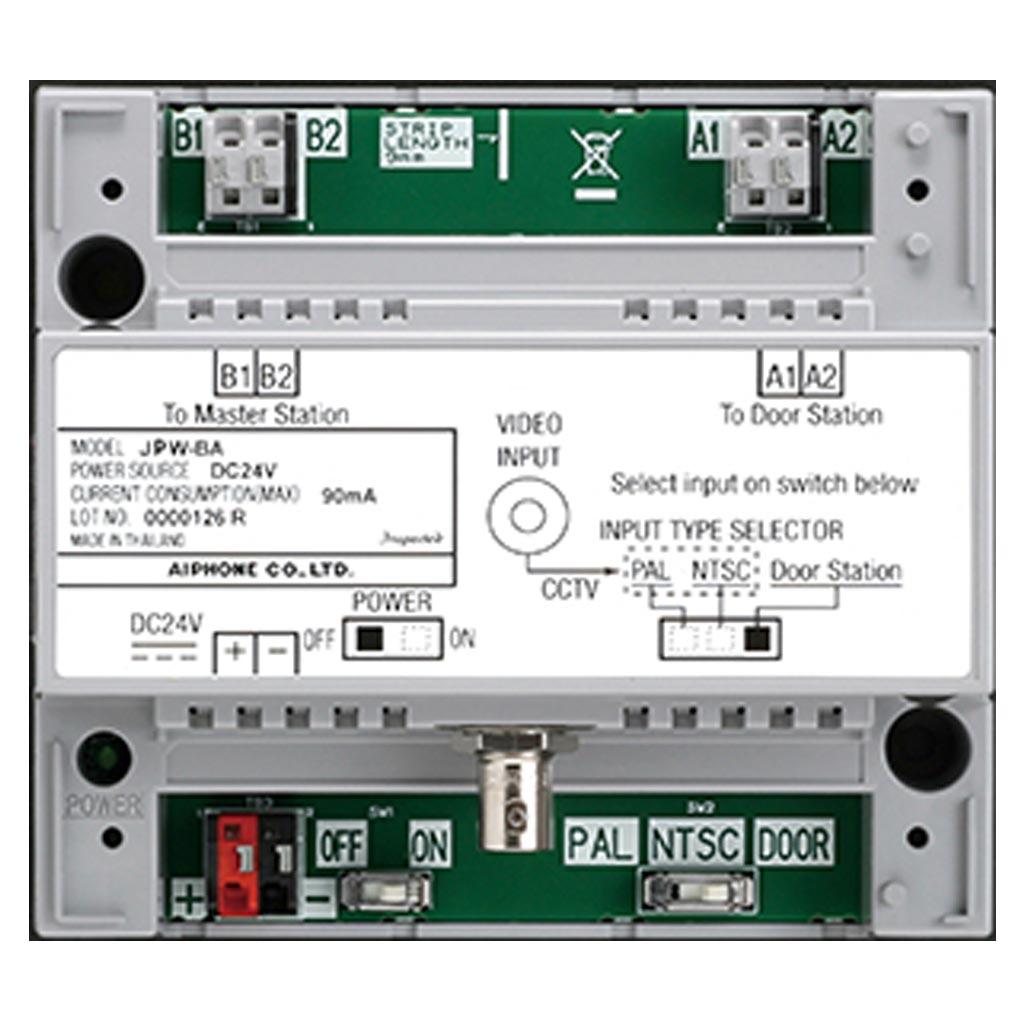 Aiphone - AIP130323 - JPWBA Amplificateur de ligne et/ou interface pour caméra NTSC pour la gamme JP
