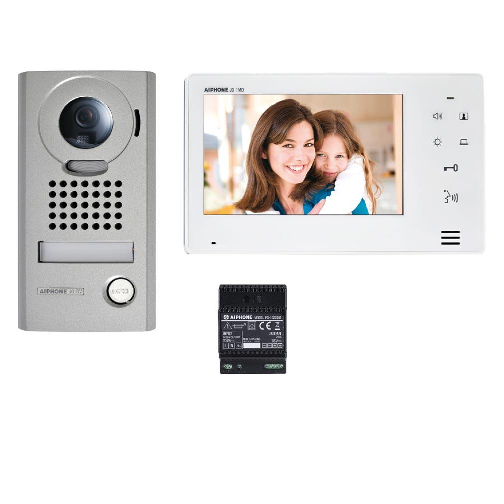 """Aiphone - AIP130400 - JOS1V Kit vidéo platine saillie avec moniteur écran 7"""" - touche sensitive"""