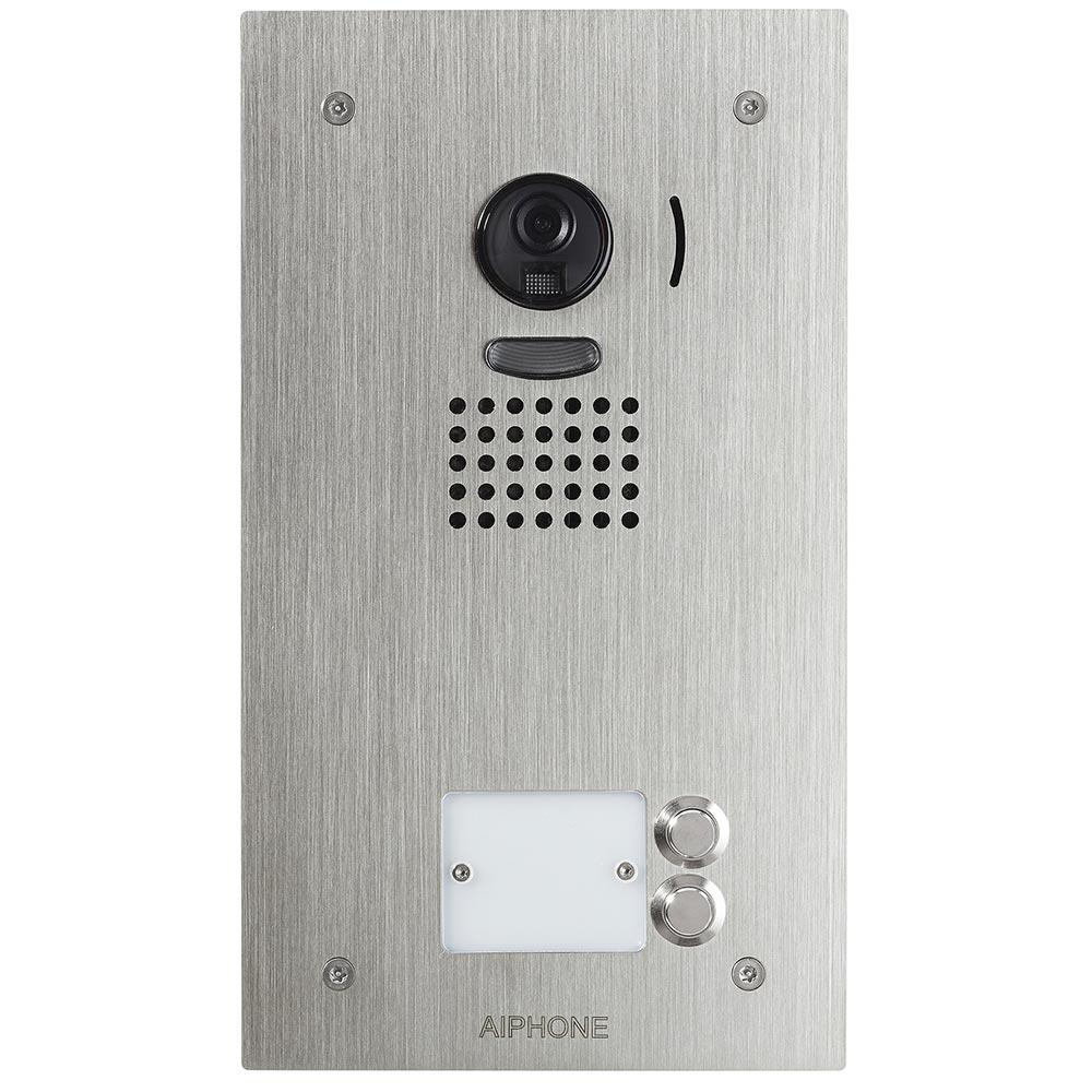 Aiphone - AIP130405 - AIPHONE JO2DVF - 130405 - Platine vidéo couleur 2 BP encastrée inox résistante au vandalisme pour moniteur JO1MD