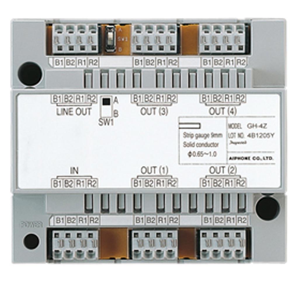 Aiphone - AIP200022 - GT4Z Distributeur vidéo 4 moniteurs