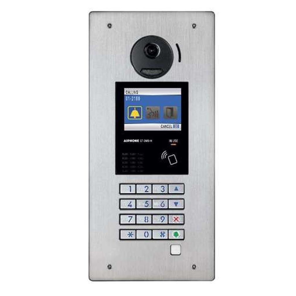 Aiphone - AIP200258 - AIPHONE GTDMBN - 200258 - Platine monobloc encastrée inox à défilement & NFC