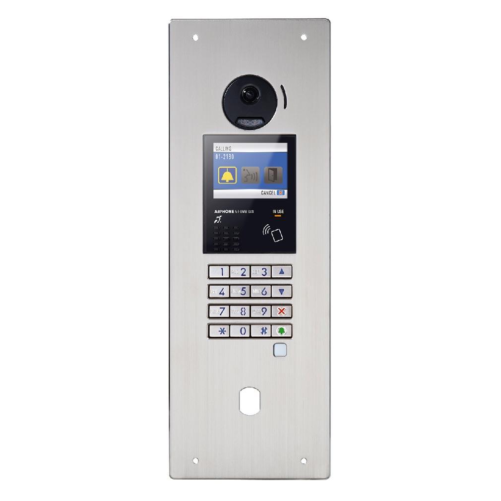 Aiphone - AIP200259 - AIPHONE GTDMBLVN - 200259 - Platine monobloc encastrée inox à défilement & NFC avec BM & perçage T25