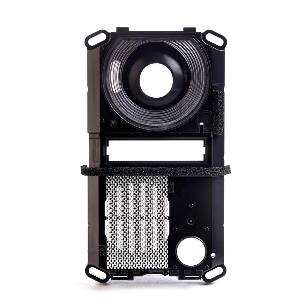 Aiphone - AIP302622 - CASEFRONT Façade plastique noire avec vitre pour platines JF & JB