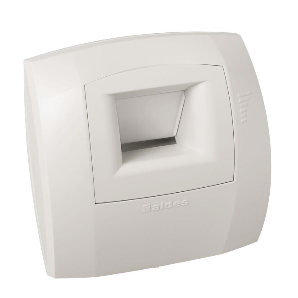 Aldes - ALD11015024 - ALDES 11015024 - Bouche hygroréglable bain B21 Curve S 5-45 D 80 mm - Blanc