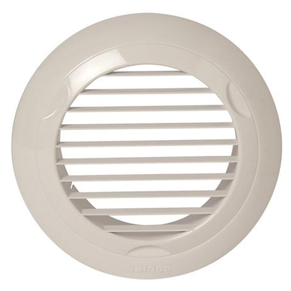 - ALD11022078 - ALDES 11022078 - Grille plastique fixe BIP D125 mm - Blanc