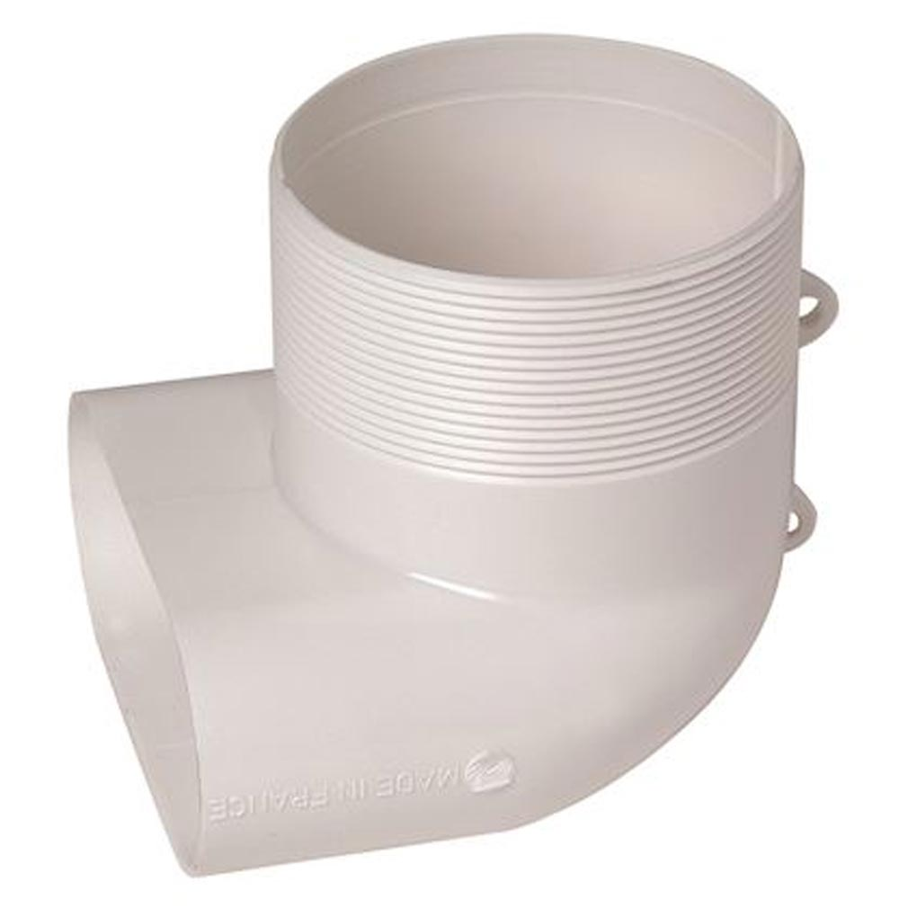 Aldes - ALD11023002 - ALDES 11023002 - Coude Minigaine blanc mixte vertical équivalent D80 (40x100)