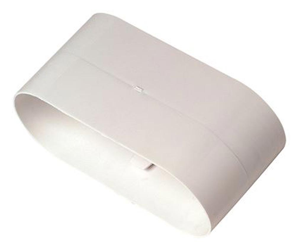 Aldes - ALD11023017 - ALDES 11023017 - Raccord Minigaine blanc droit équivalent D80 (40x100)