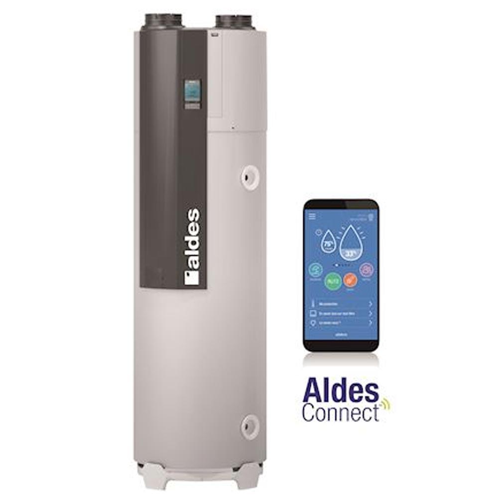 Aldes - ALD11023199 - ALDES 11023199 - Chauffe-eau thermodynamique Aldes T.Flow Hygro+, 200 Litres Habitat collectif