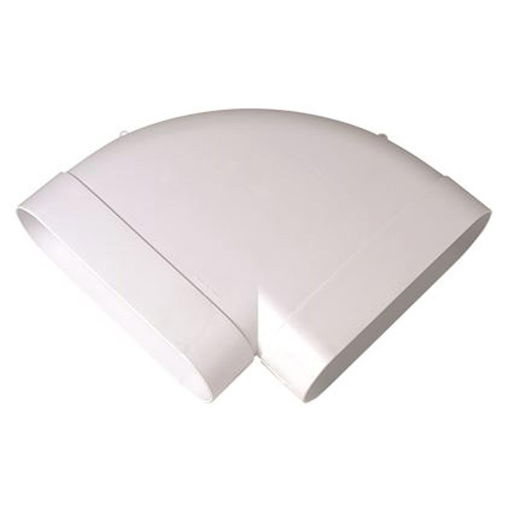 Aldes - ALD11023973 - ALDES 11023973 - Coude Minigaine blanc 90DEG horizont.équivalent D125 (60x200)