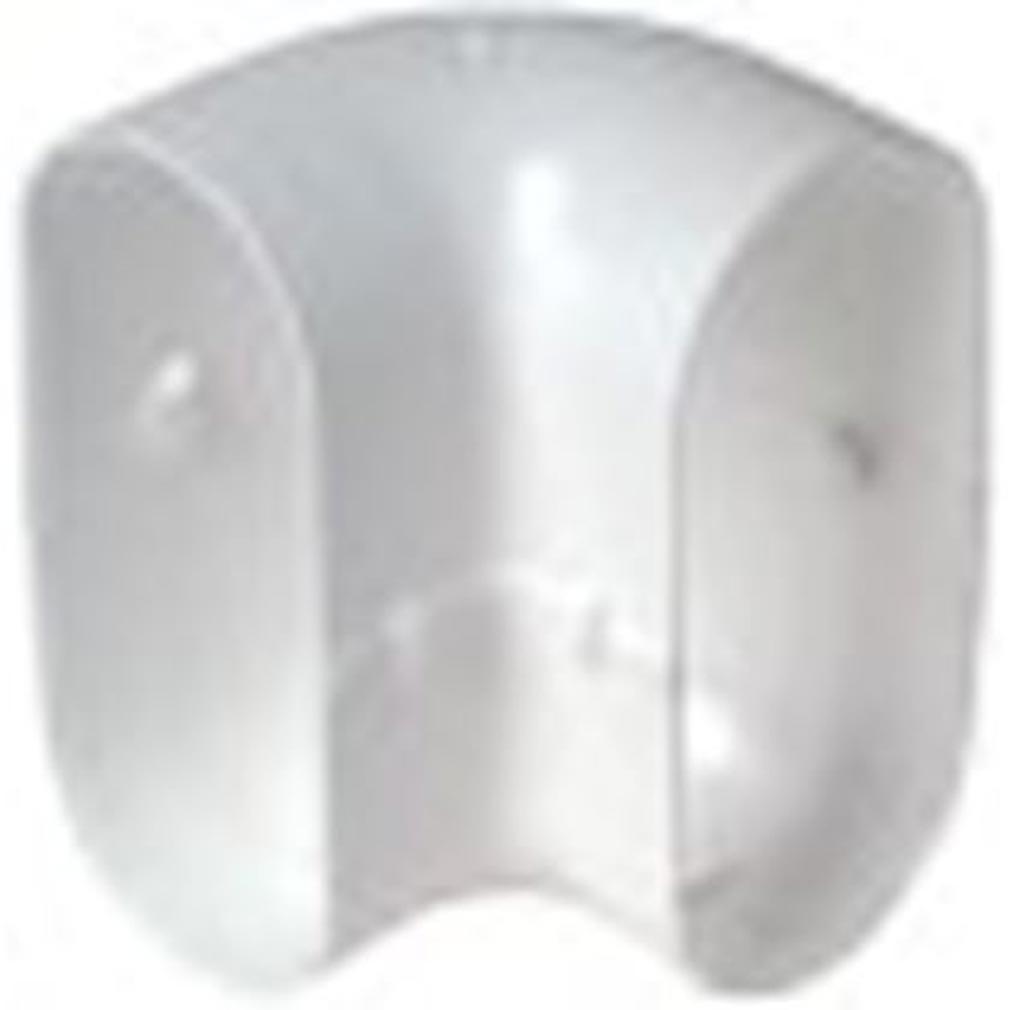 Aldes - ALD11023976 - ALDES 11023976 - Coude Minigaine blanc 90DEG vertical équivalent D80 (40x100)