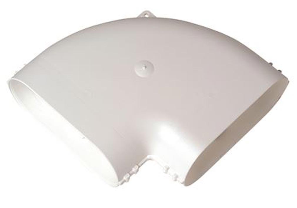 Aldes - ALD11023977 - ALDES 11023977 - Coude Minigaine blanc 90DEG horizontal équivalent D80 (40x100)