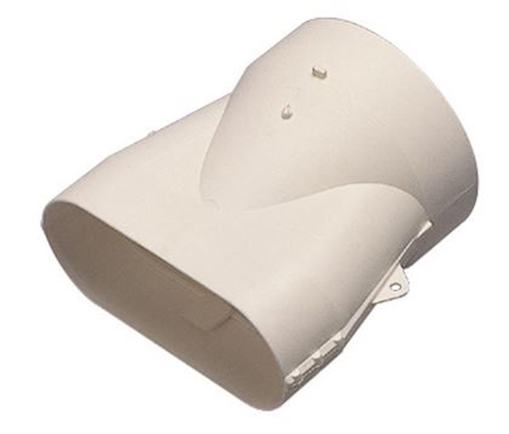 Aldes - ALD11023978 - ALDES 11023978 - Raccord Minigaine blanc mixte droit équivalent D80 (40x100)