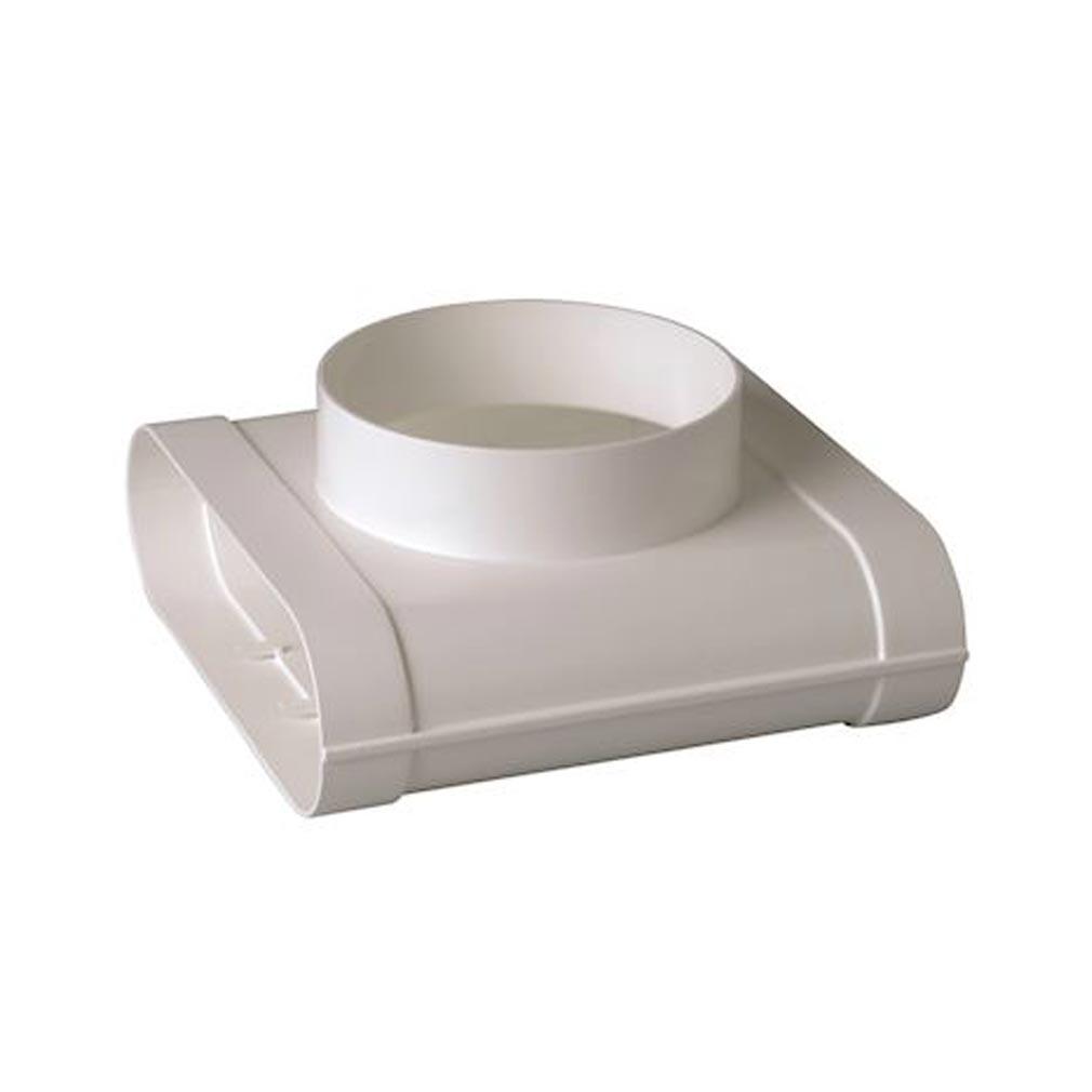 Aldes - ALD11023979 - ALDES 11023979 -  Té Minigaine blanc mixte vertical équivalent D125 (60x200)