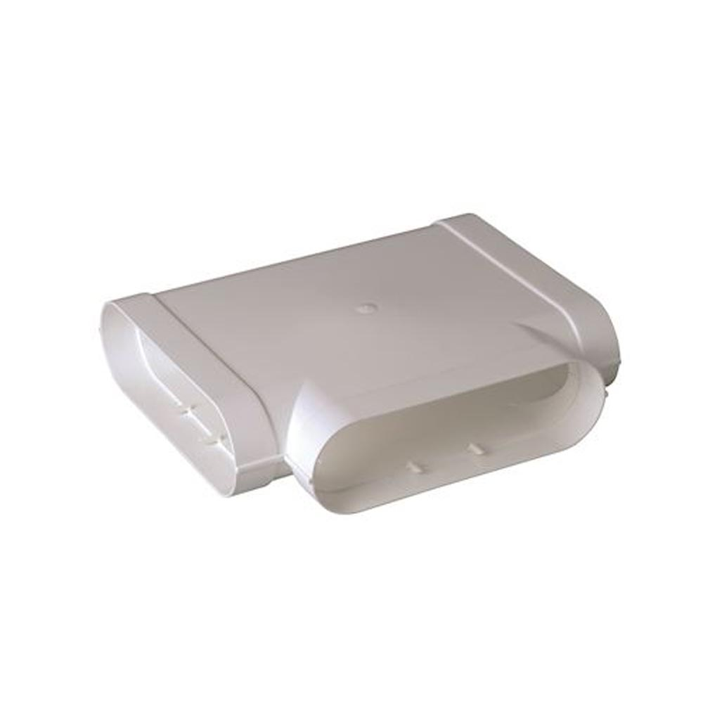 Aldes - ALD11023980 - ALDES 11023980 -  Té Minigaine blanc 90DEG horizontal équivalent D125 (60x200)