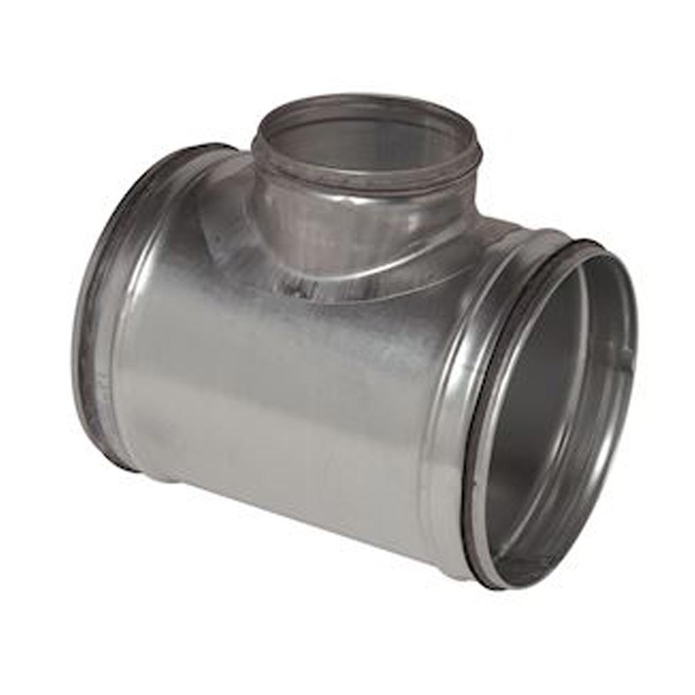 Aldes - ALD11098008 - ALDES  11098008 - Té équerre galvanisé à joint - Diamètre 200/200 mm