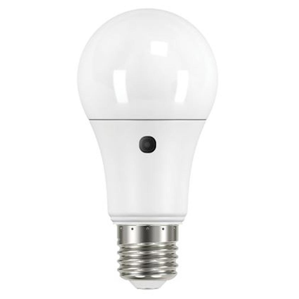 Aric - ARI20013 - ARIC 20013 - Lampe standard E27 LED 9,5W 2700K 806 lumens, avec détecteur crépusculaire intégré