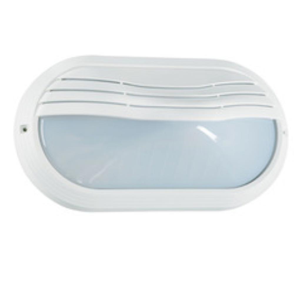 Aric - ARI2202 - ARIC2202 -  OVO 270TP - Hublot Extérieur IP65 IK10, ovale, blanc, E27 40W max., lampe non fournie