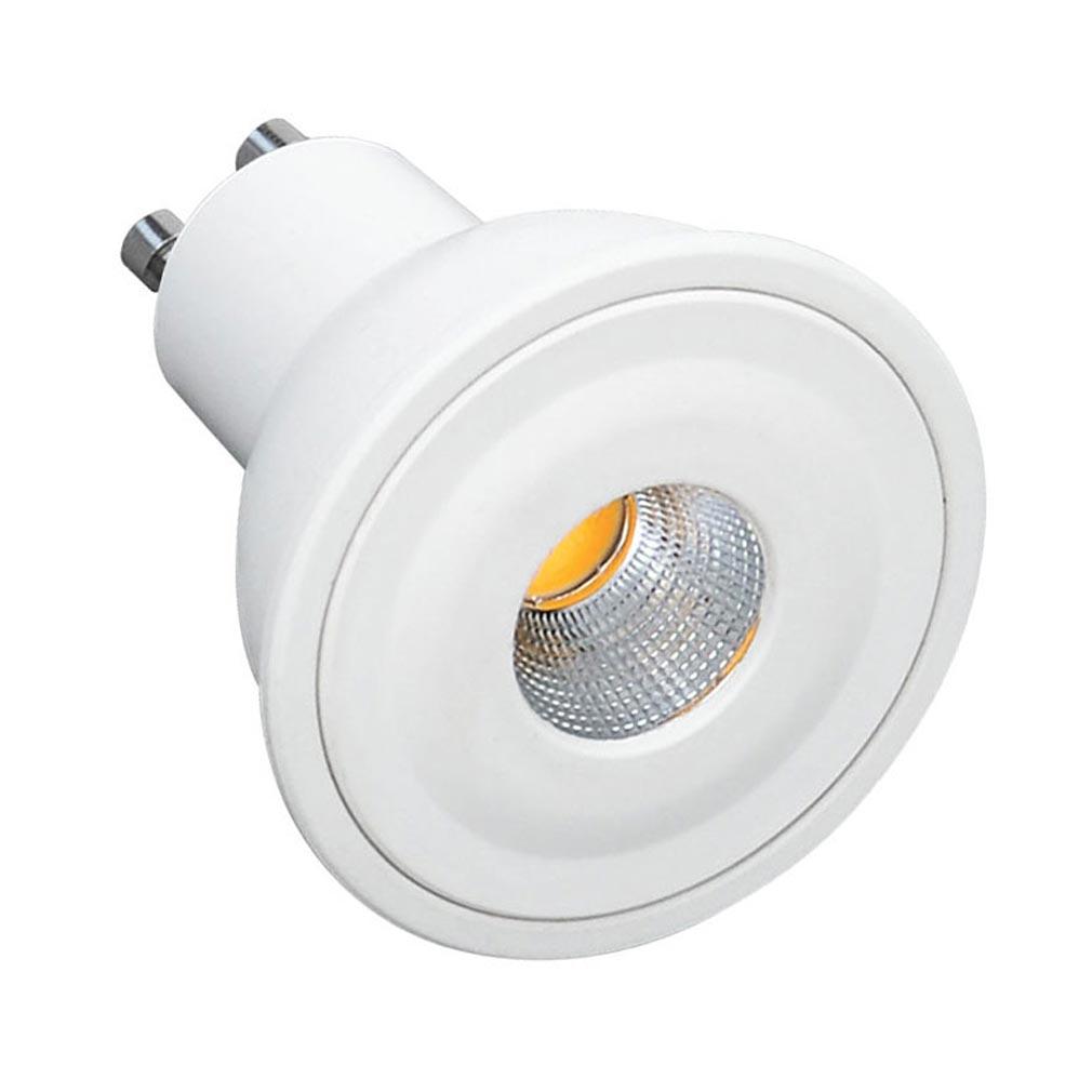 Aric - ARI2948 - ARIC 2948 - Lampe GU10 LED 6W 2700K 460 lumens, classe énergétique A+, 20000H, corps plastique blanc