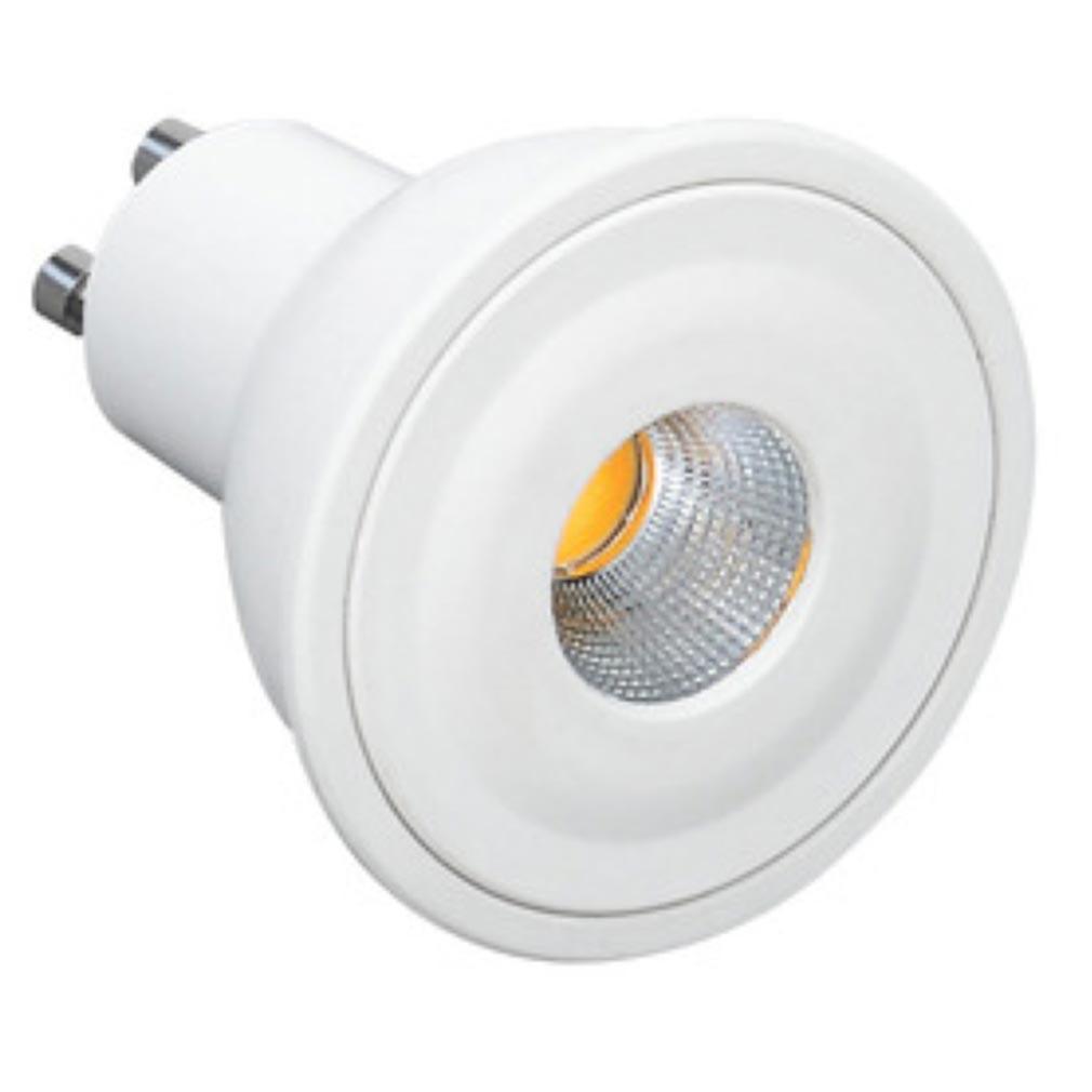 Aric - ARI2949 - ARIC 2949 - Lampe GU10 LED 6W 4000K 480 lumens, classe énergétique A+, 20000H, corps plastique blanc