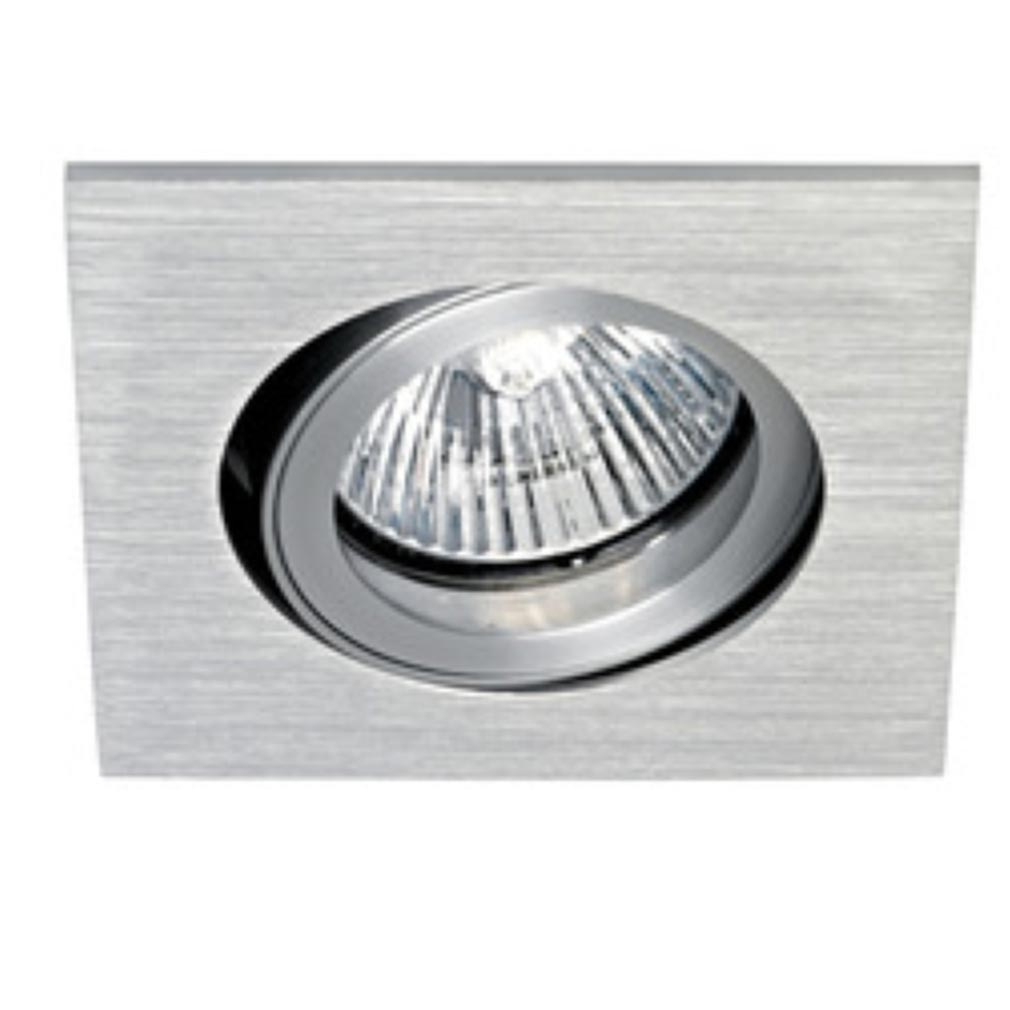 Aric - ARI4147 - ARIC 4147 - TIPO C-230 - Encastré GU10, carré, orientable et basculant, aluminium