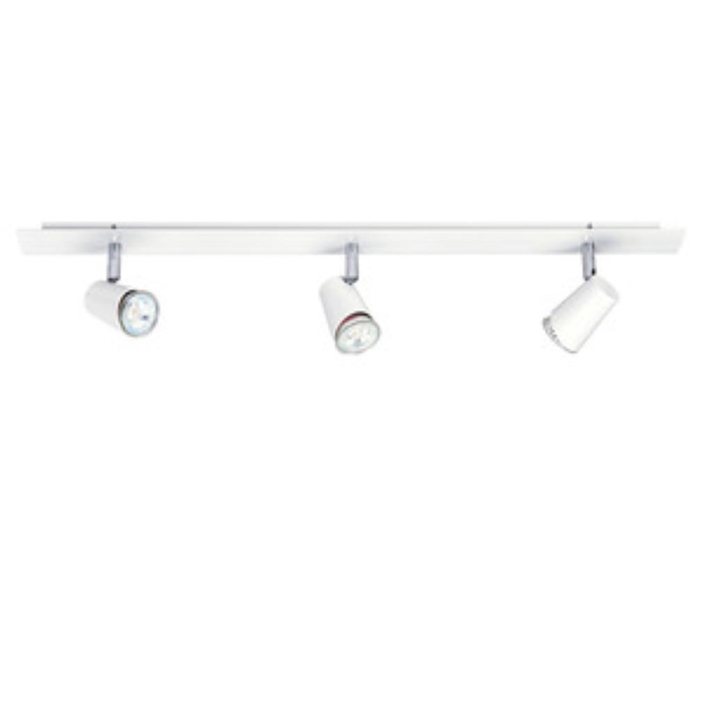 Aric - ARI4150 - ARIC 4150  - JUDY B3- Plafonnier/Applique 3 spots GU10, blanc, avec lampes LED 4, 5W 3000K 405 lumens, variables fournies