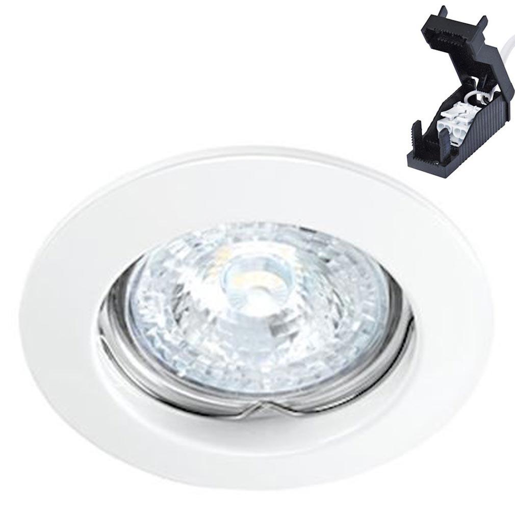 Aric - ARI4557 - ARIC 4557 - FIXO 230 CX - Encastré GU10, rond, fixe, blanc, connexion sans outil, lampe non fournie