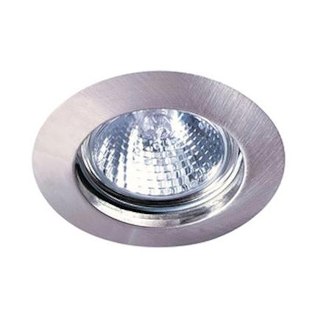 Aric - ARI4558 - ARIC 4558 - FIXO 230 CX - Encastré GU10, rond, fixe, nickel, connexion sans outil, lampe non fournie