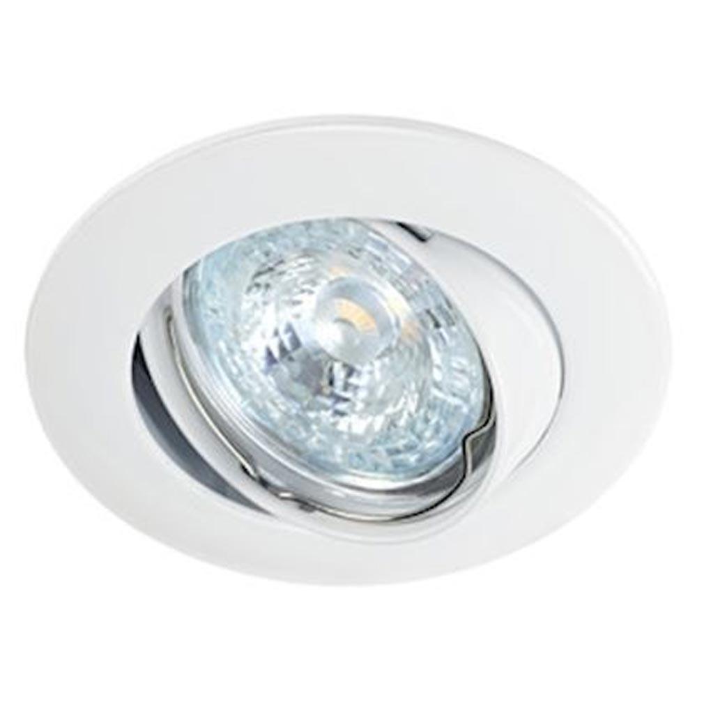 Aric - ARI4559 - ARIC 4559 - LUNAR 230 CX -Encastré GU10, rond, basc., blanc, connex. s/outil, lampe non incluse