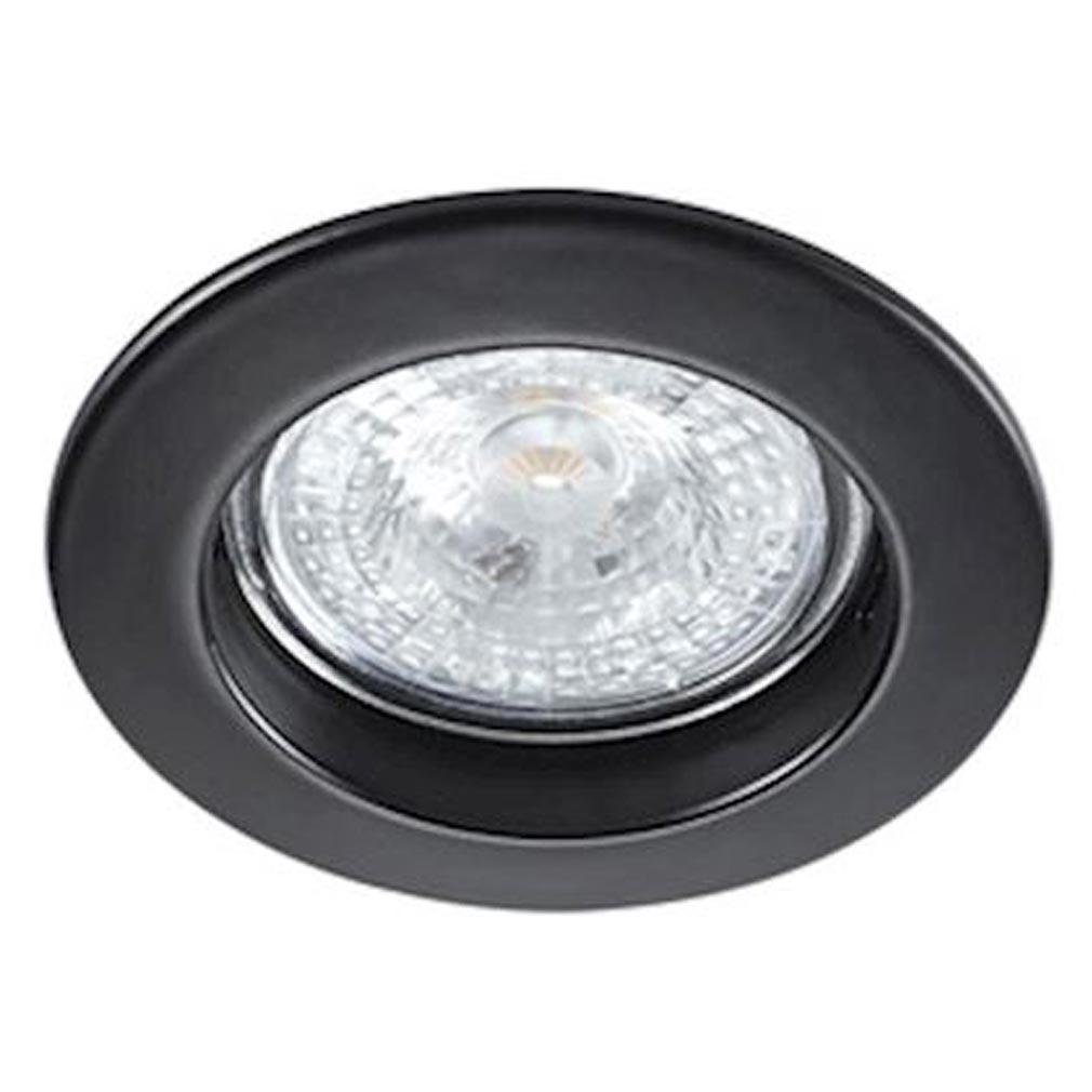 Aric - ARI4564 - ARIC 4564 - FIXO 230 CX - Encastré GU10, rond, fixe, noir, connexion sans outil, lampe non fournie