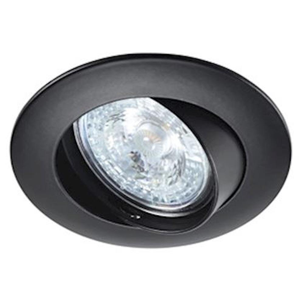 Aric - ARI4566 - ARIC 4566 - LUNAR 230 CX- Encastré GU10, rond, basculant, noir, connexion sans outil, lampe non fournie