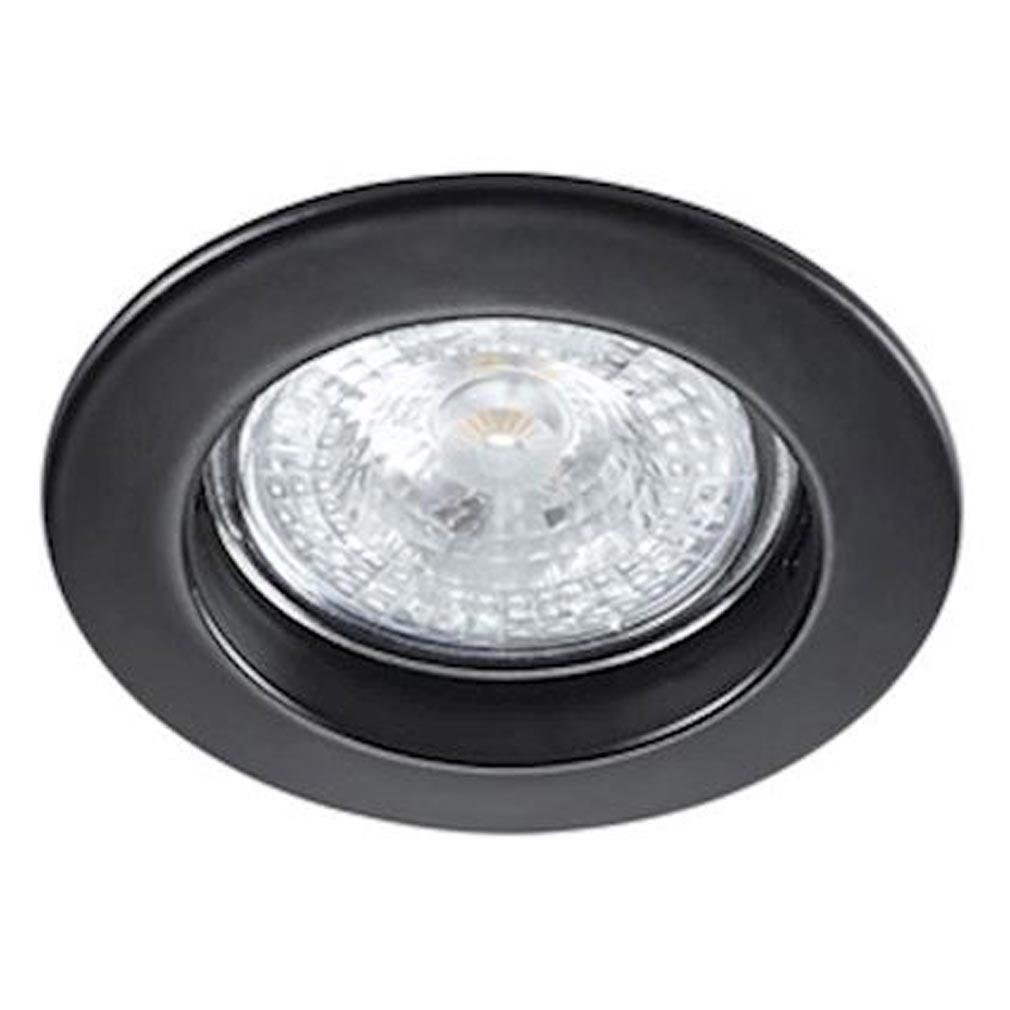 Aric - ARI4572 - ARIC 4572 - FIXO -230 -  Encastré GU10, rond, fixe, noir, lampe non fournie