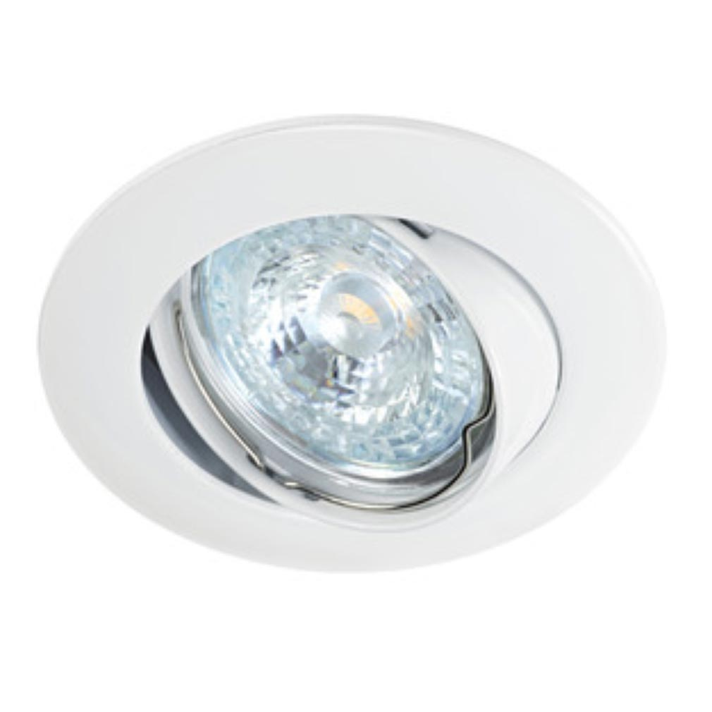 Aric - ARI4877 - ARIC 4877 - LUNAR 50-230 - Encastré GU10, rond, basculant, blanc, lampe non fournie