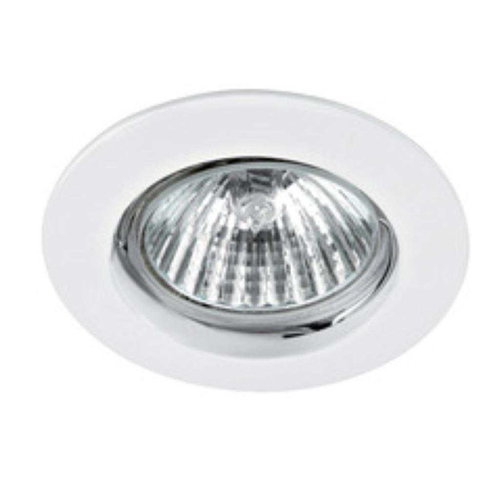 Aric - ARI4880 - ARIC 4880 - DISK - Encastré GU10, rond, fixe, blanc, lampe non fournie