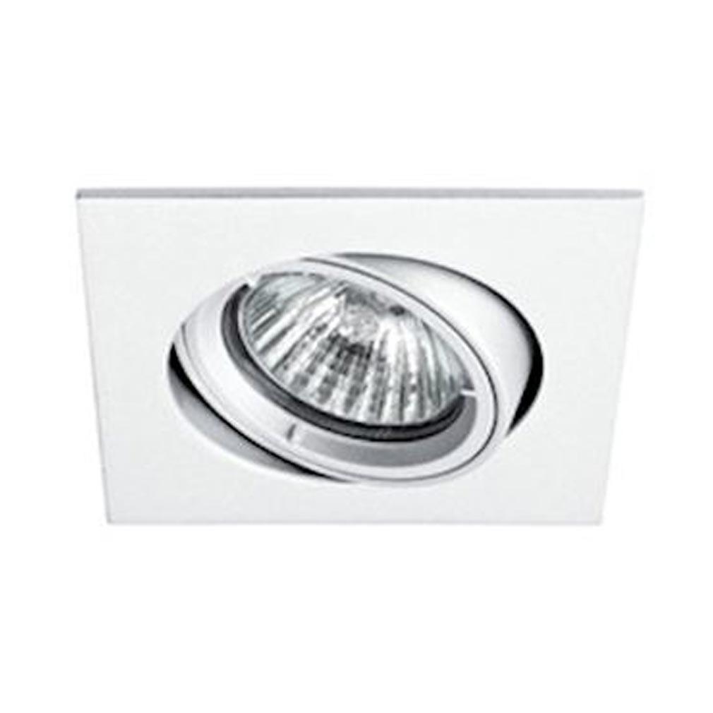 Aric - ARI4972 - ARIC 4972 - SPEED 70 C 230 - Encastré GU10, carré, basculant, blanc, lampe non fournie
