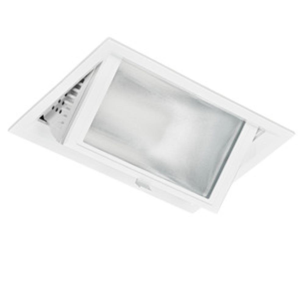 Aric - ARI50087 - ARIC 50087 - METROPOLIS - Downlight, rectangulaire, basculant, faisceau 70DEG, LED intégrée 30W 4200K 2500 lumens