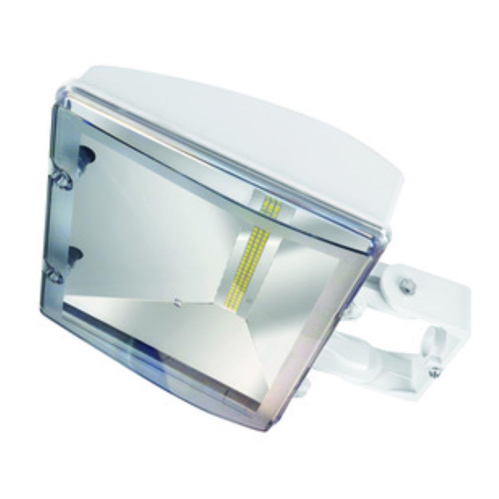 Aric - ARI50101 - ARIC 50101 - HERO LED - Projecteur Extérieur IP65 IK07, blanc, faisceau 100DEG, LED intégrée 20W 4000K 2100 lumens