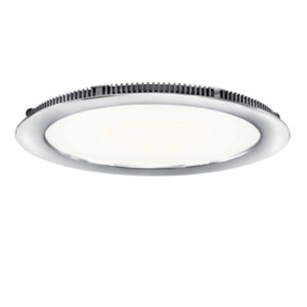 Aric - ARI50106 - ARIC 50106 - FLAT LED - Downlight plat, rond, fixe, chromé, 110DEG, LED intégrée 13W 4000K 980 lumens