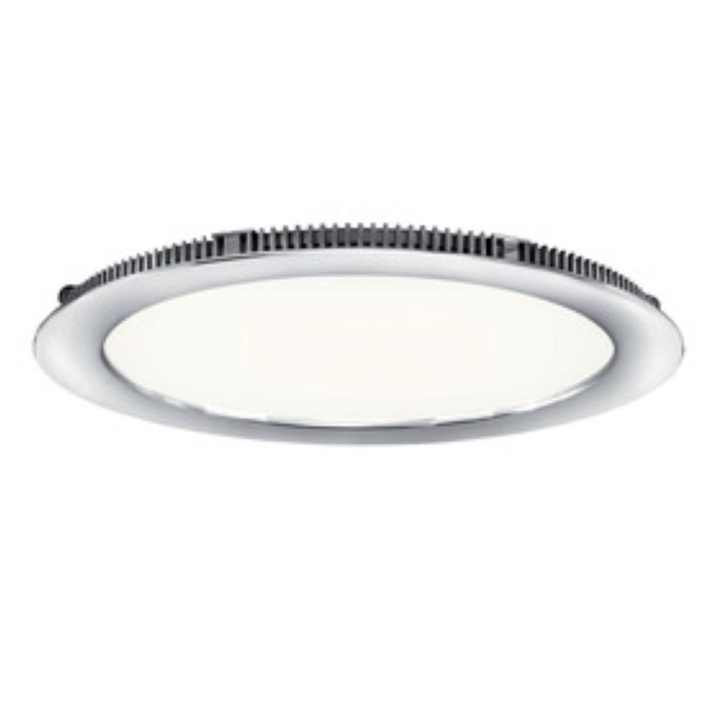 Aric - ARI50107 - ARIC 50107 - FLAT LED - Downlight plat, rond, fixe, chromé, 110DEG, LED intégrée 20W 4000K 1700 lumens