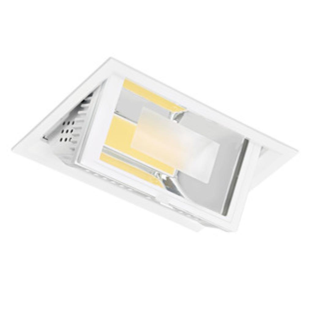 Aric - ARI50181 - ARIC 50181 - METROPOLIS - Downlight, rectangulaire, basculant, faisceau 80DEG, LED intégrée 45W 4200K 4100 lumens