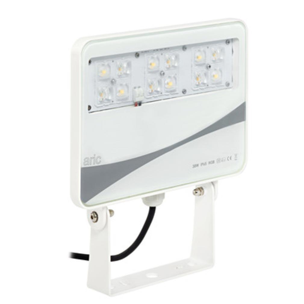 Aric - ARI50242 - ARIC 50242 - SUNSET - Projecteur Extérieur IP65 IK08, blanc, faisceau 50DEG, LED intégrée 38W 4000K 3000 lumens