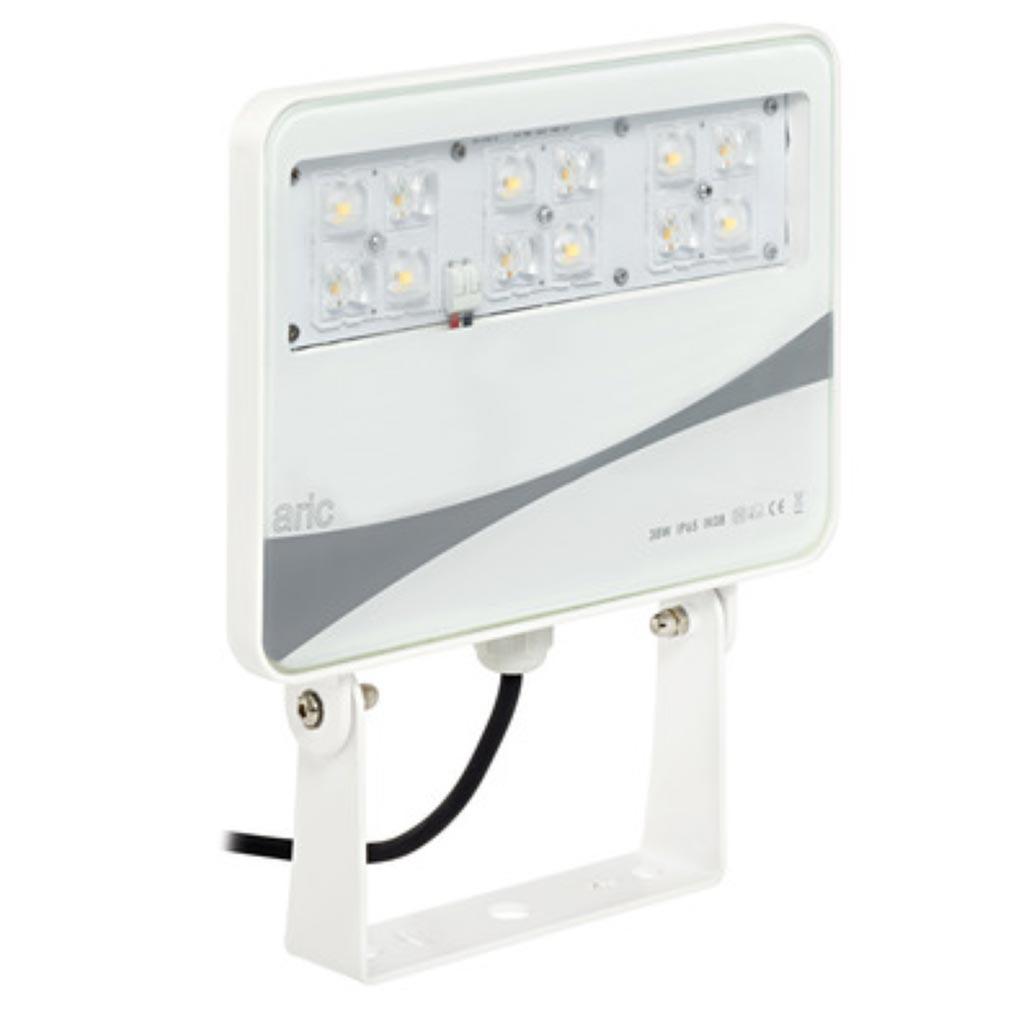 Aric - ARI50247 - ARIC 50247 - SUNSET - Projecteur Extérieur IP65 IK08, blanc, faisceau 50DEG, LED intégrée 38W 3000K 2600 lumens