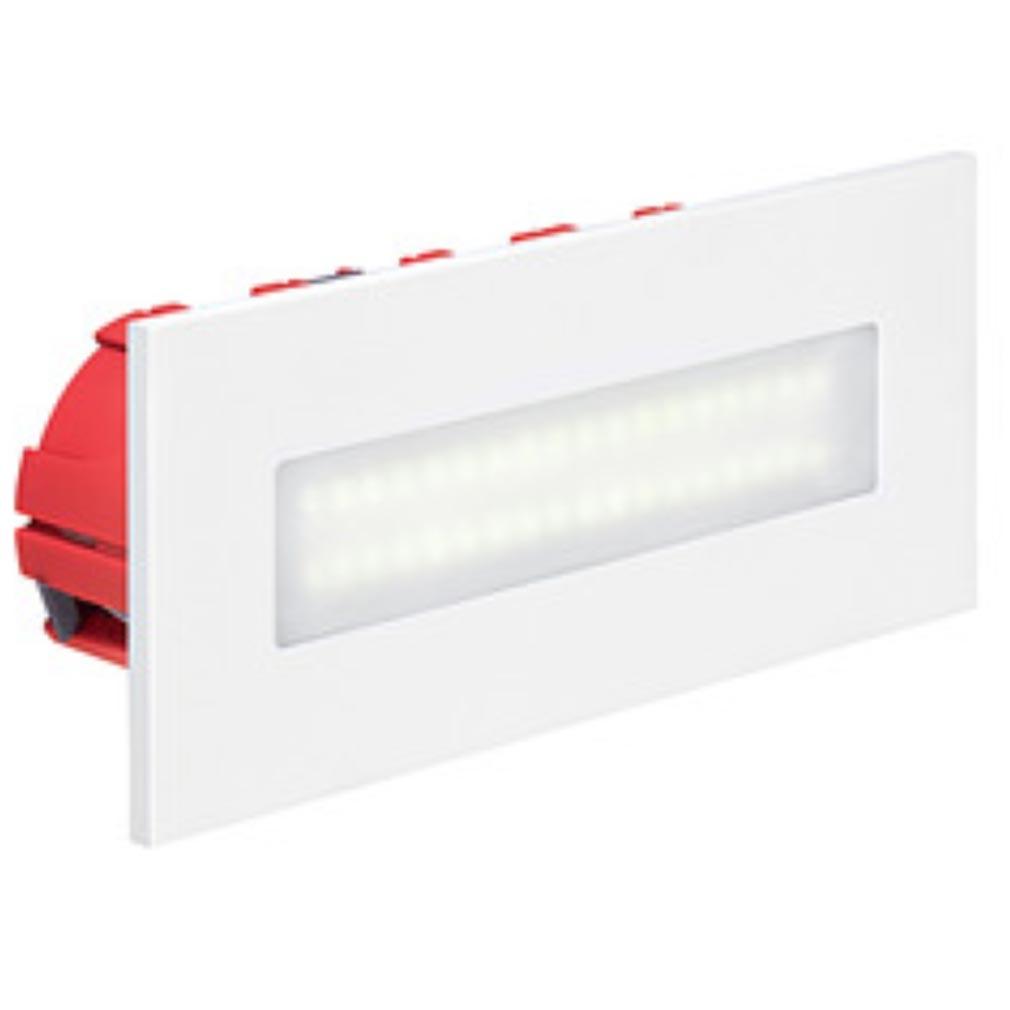 Aric - ARI50266 - ARIC 50266 - BALIZ 3 - Encastré de mur rectangulaire, fixe, blanc, LED intégrée 2,76W 4200K 222 lumens